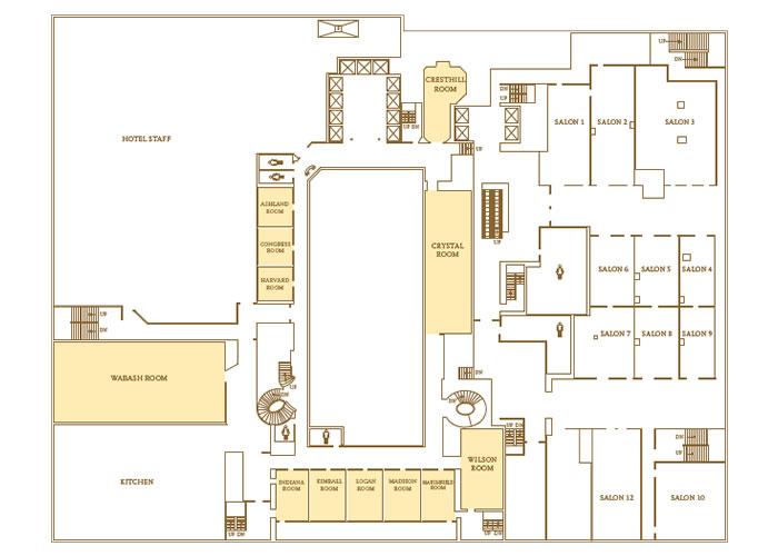 Venues services in chicago il palmer house a hilton for Floor plan services