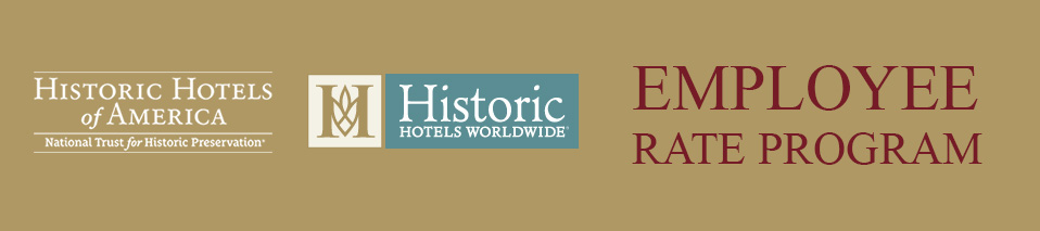 Employee rate program historic hotels of america for Design hotel employee rate